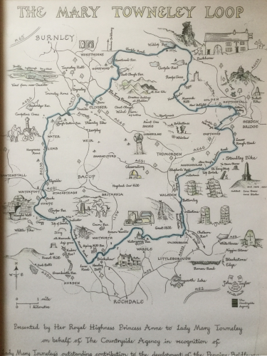 Map of the Mary Towneley Loop